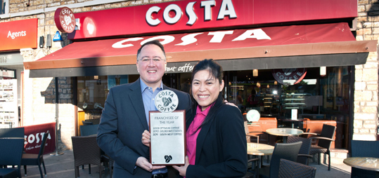 Salute For Costa Coffees Franchisee Of The Year Franchise