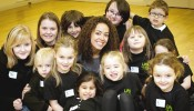 Leah Hackett with LIPA 419 Knutsford students