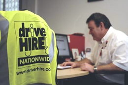 Driver Hire high visibility jacket
