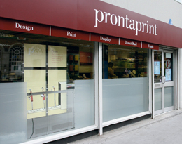 Prontaprint shop front