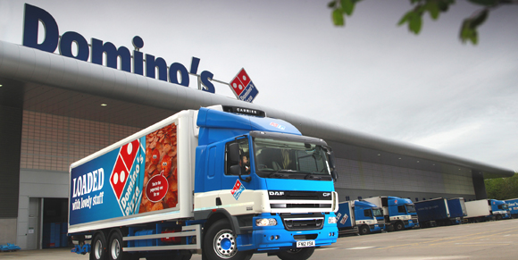 Domino's Pizza takes to the road with a striking livery ...