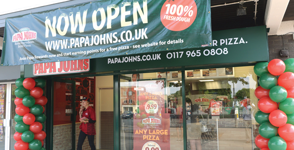 Papa Johns Customer To Open Five New Stores