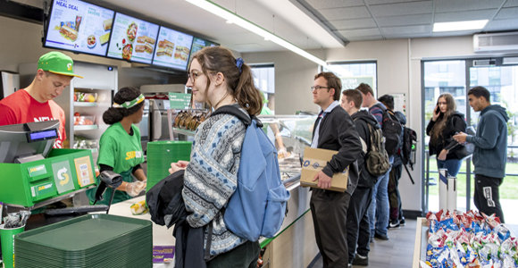 Subway is an appealing choice for students